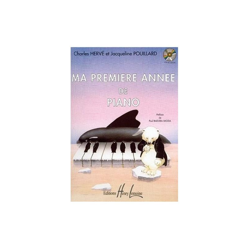 Ma Première Année de Piano Charles Hervé et Jacqueline Pouillard Ed Henry Lemoine Melody music caen