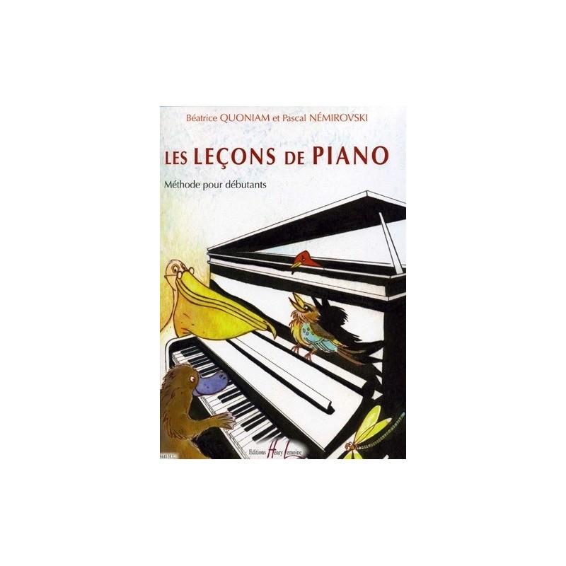 Les leçons de Piano Méthode Débutants Béatrice Quoniam et Pascal Némirovski Ed Henry Lemoine Melody music caen