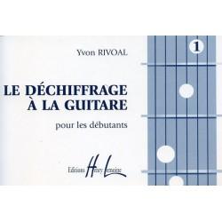 Le déchiffrage à la guitare Rivoal Ed Henry Lemoine Melody music caen