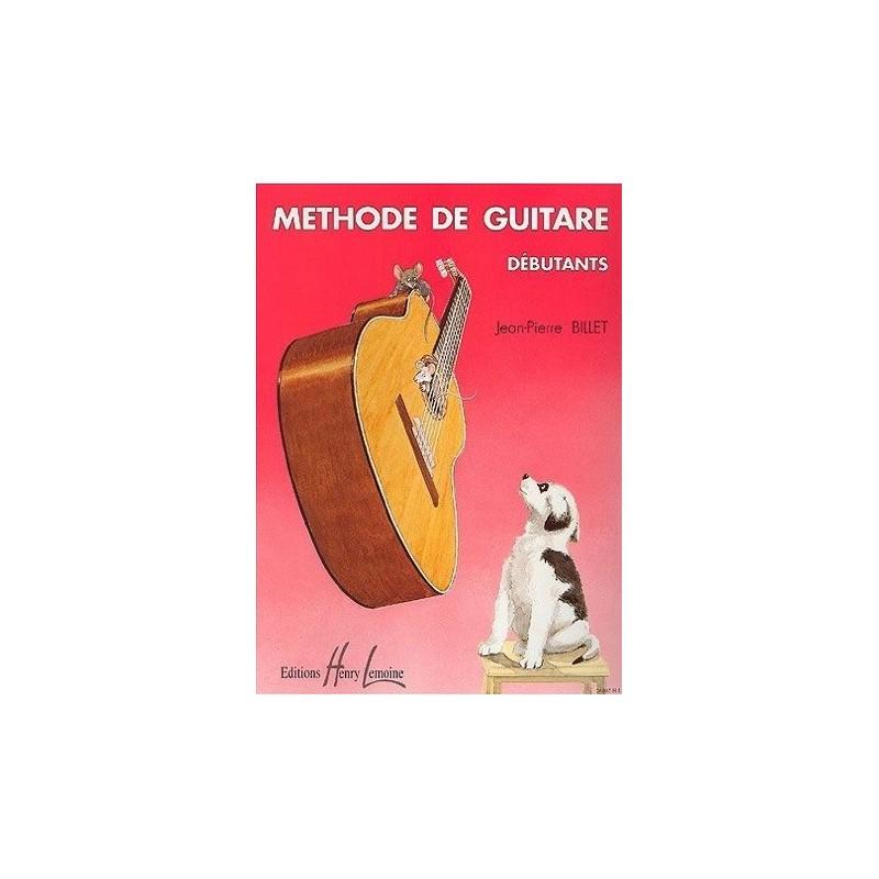 Méthode de Guitare Debutant Jean Pierre Billet Ed Henry Lemoine Melody music caen