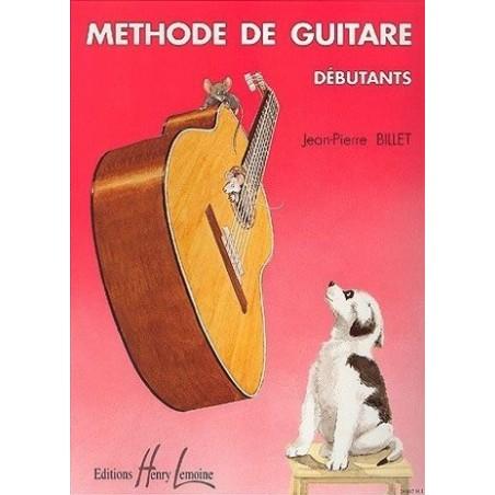 Méthode de Guitare Debutant Jean Pierre Billet Ed Henry Lemoine