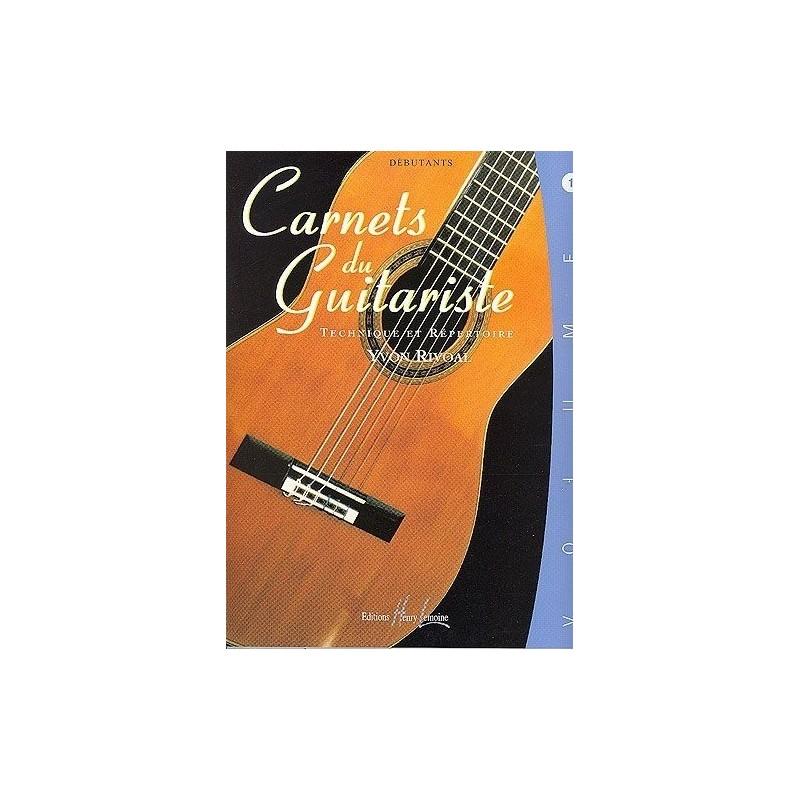 Carnets du Guitariste Débutant Vol1 Yvon Rivoal Ed Henry Lemoine Melody music caen