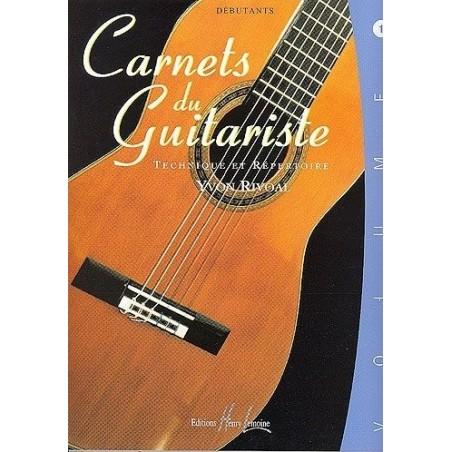 Carnets du Guitariste Débutant Vol1 Yvon Rivoal Ed Henry Lemoine