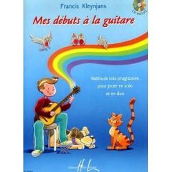 Mes débuts à la guitare Francis Kleynjans Ed Henry Lemoine Melody music caen