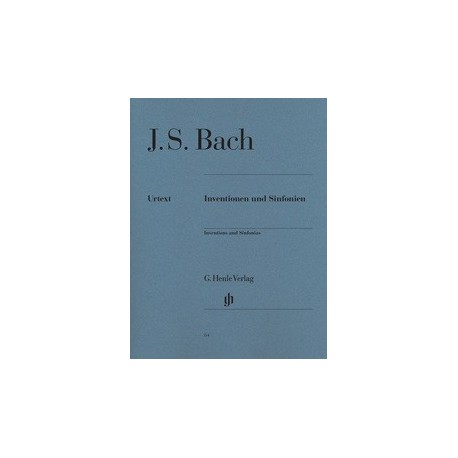 Inventions and Sinfonias HN64 Urtext Bach Melody music caen