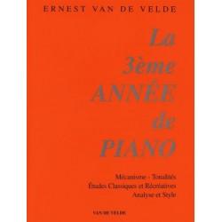 La 3ème année de Piano Ernest Van de Velde Ed Van de Velde Melody music caen