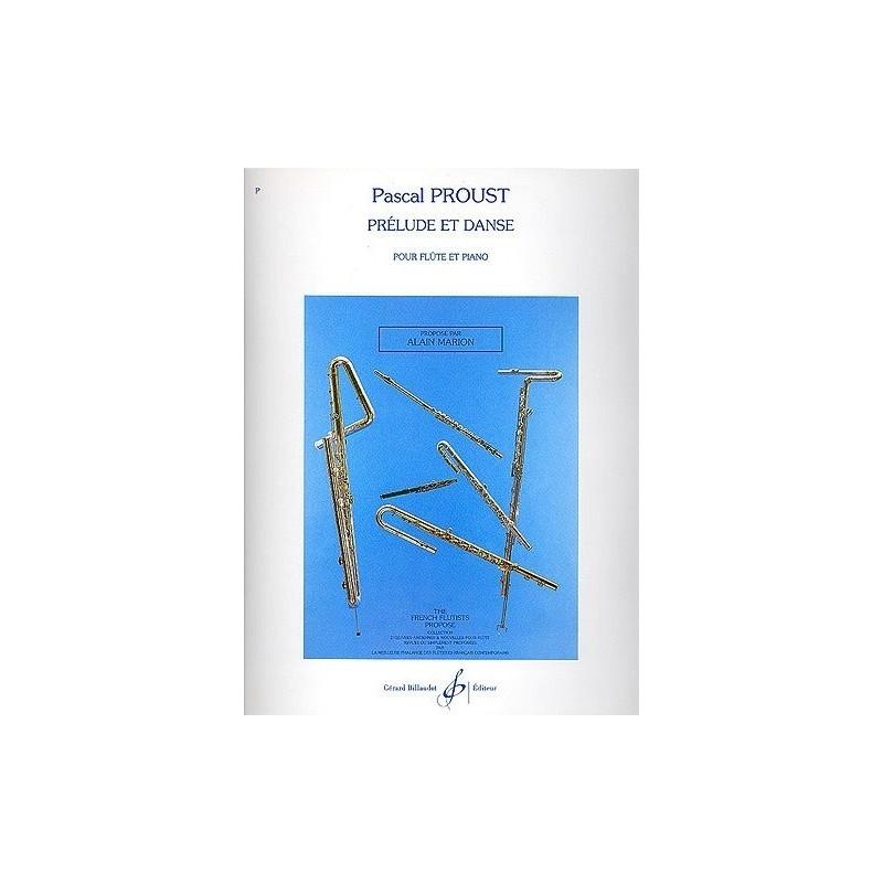 Prélude et danse pour flûte et piano Pascal Proust Ed Billaudot Melody music caen