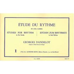Etude du Rythme en 5 cahiers Georges Dandelot Ed Leduc