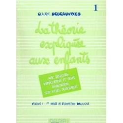 La Théorie Expliquée aux enfants Vol1 Claudie Debeauvois Edition Delrieu Melody music caen