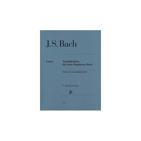 Notebook for Anna Magdalena Bach Urtext HN349 Melody music caen