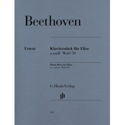 Lettre à Elise Beethoven Wo059 Urtext