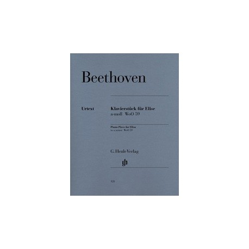 Lettre à Elise Beethoven Wo059 Urtext Melody music caen