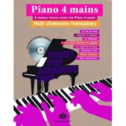 Piano 4 mains 8 chansons françaises