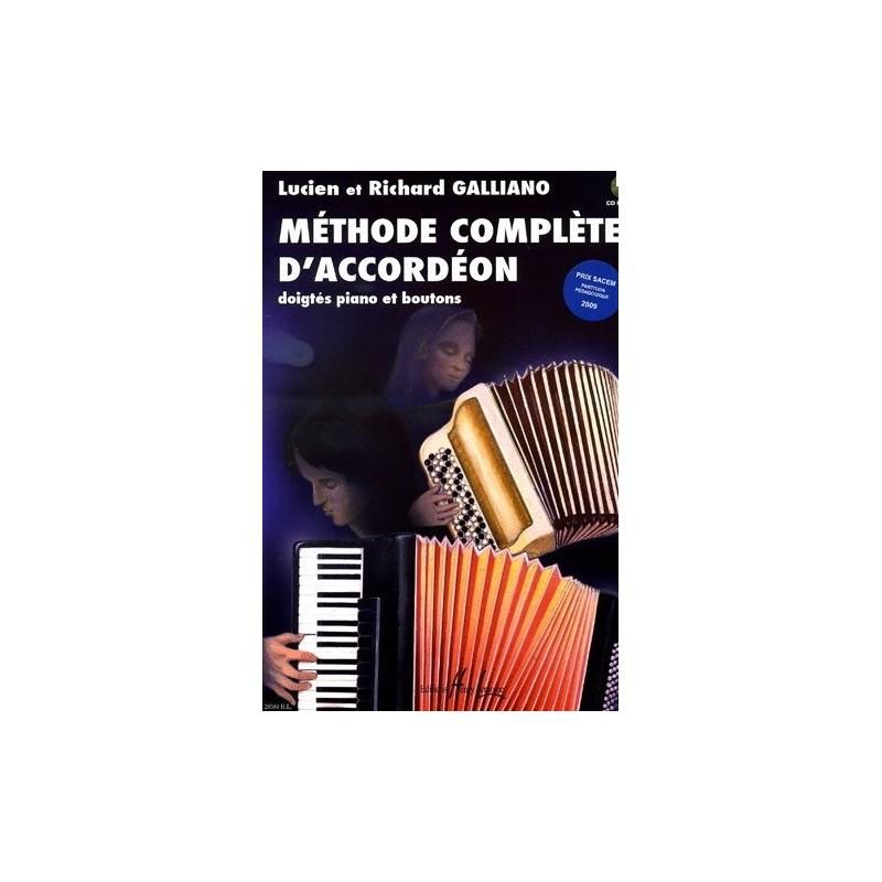 Méthode complète d accordéon Lucien et Richard Galliano Melody music caen