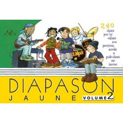 Diapason jaune Vol2 avec accords guitares Melody music caen