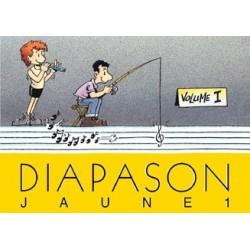 Diapason jaune Vol1 avec accords guitares Melody music caen