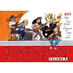 Diapason rouge Vol1 avec accords guitares Melody music caen