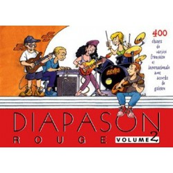 Diapason rouge Vol2 avec accords guitares Melody music caen