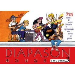 Diapason rouge Vol3 avec accords guitares Melody music caen