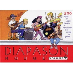 Diapason rouge Vol4 avec accords guitares Melody music caen