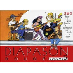 Diapason rouge Vol5 avec accords guitares Melody music caen