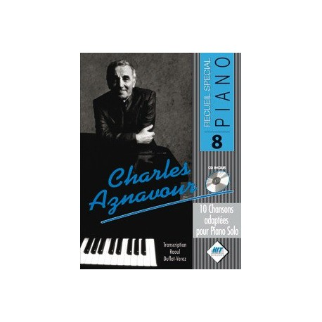 Recueil spécial piano vol8 Charles Aznavour Melody music caen