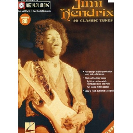 Jimi Hendrix Jazz play along 10 classic tunes avec CD Melody music caen