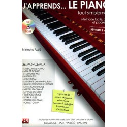 J apprends...Le Piano tout simplement Niveau 1&2 Christophe ASTIE Melody music caen