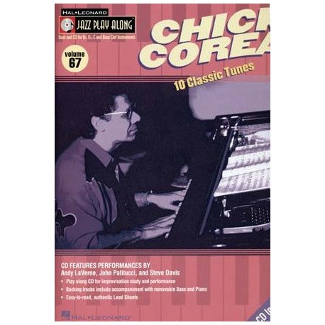 Jazz play along Vol67 Chick Corea avec CD Melody music caen
