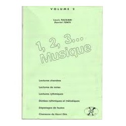 1,2,3...Musique vol2 Louis Fazzari, Daniel Torti Ed AB