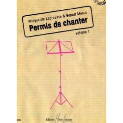 Permis de chanter Vol1 Margueritte Labrousse et Benoît Menut