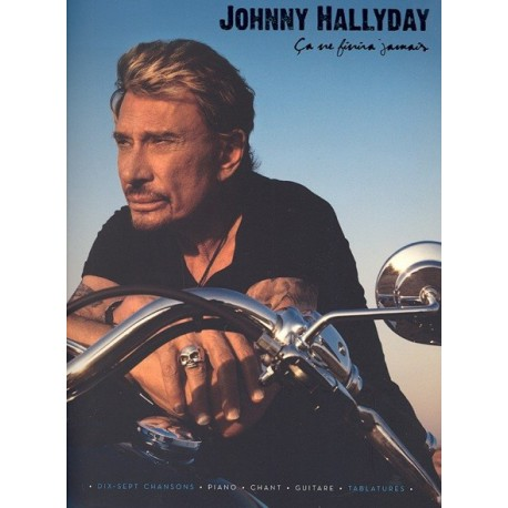 Johnny Halliday Ca ne finira jamais Piano chant guitare tablatures Melody music caen