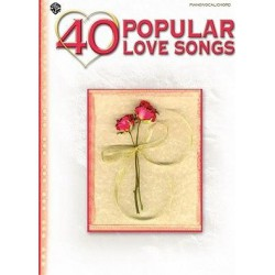 40 popular love songs Piano voix guitare