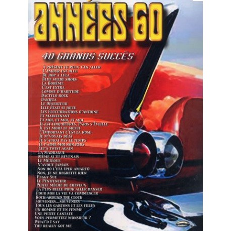 Années 60 40 grands succès Piano Voix Guitare Melody music caen