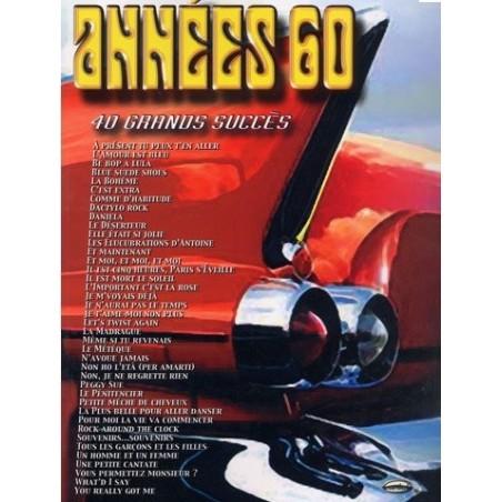 Années 60 40 grands succès Piano Voix Guitare