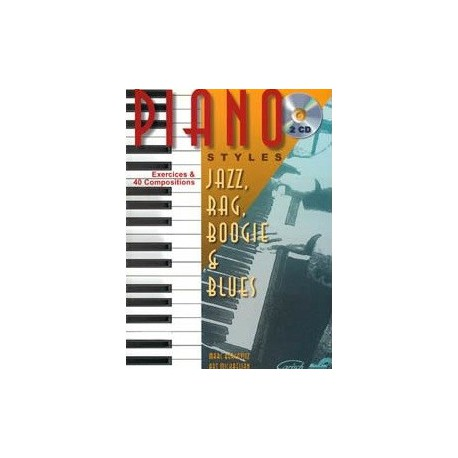 Piano styles Jazz, Rag, Boogie et Blues Vol1 Marc Bercovitz Melody music caen