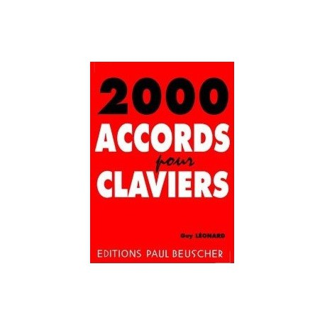 2000 accords pour clavier Guy Léonard Melody music caen
