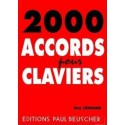 2000 accords pour clavier Guy Léonard