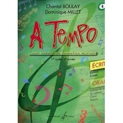 A Tempo 1er cycle 4è année Ecrit Chantal Boulay Dominique Millet Ed Billaudot Melody music caen