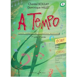 A Tempo 1er cycle 3è année Ecrit Chantal Boulay Dominique Millet Ed Billaudot Melody music caen