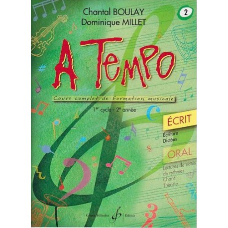 A Tempo Vol. 2 Ecrit 1er cycle 2è année Melody music caen