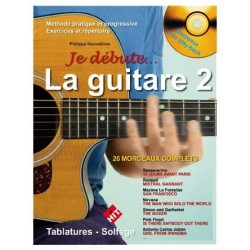 je debute la guitare volume 2 avec CD