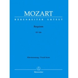Requiem KV626 Urtext Mozart Vocal score Melody music caen