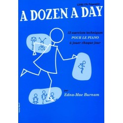 A Dozen a Day Livre Un Edna Mae Burnam Editions Musicales Anglais