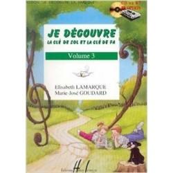 Je découvre la clé de Sol et la clé de Fa Vol.3 de LAMARQUE Elisabeth / GOUDARD Marie-José Ed. Henry Lemoine