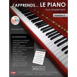 J'apprends le piano tout simplement niveau 3&4 VOL2 avec CD Melody Music Caen