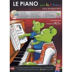 le piano tout simplement pour les 5/8 ans avec CD