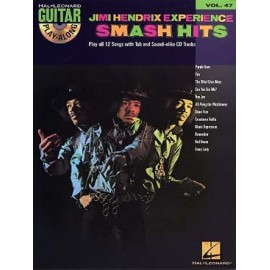 GUITAR PLAY ALONG VOL.47 HENDRIX JIMI SMASH HITS TAB CD