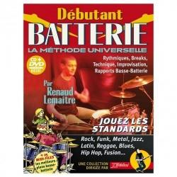 Debutant Batterie Rebillard avec CD et DVD