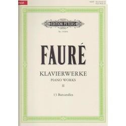 Piano works II 13 Barcarolles Gabriel Fauré N°9560b
